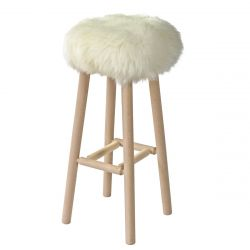 Moumoute Stool Large | White | Short Hairs