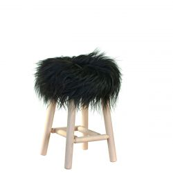 Stool Moumoute Medium | Zwart | Langharig
