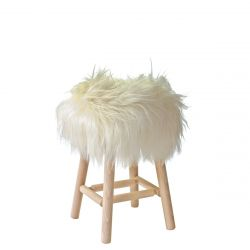 Moumoute Stool Medium | White | Long Hairs