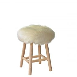 Stool Moumoute Medium | Wit | Kortharig