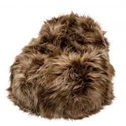 Pouf Moumoute XL | Brown | Long Hairs