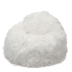 Pouf Moumoute XL | White | Long Hairs