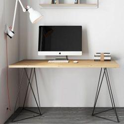 Schreibtisch Flow | Wilde Eiche & Schwarz