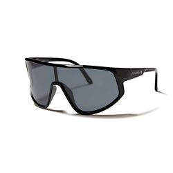 Sunglasses Tignes Unisex | Shiny Black + Smoke Lens