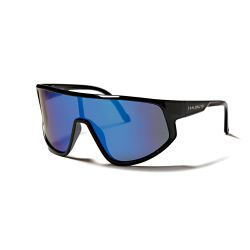 Sunglasses Tignes Unisex | Shiny Black + Blue Lens