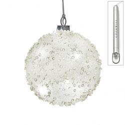 LED Weihnachtskugel aus Glas 10 cm Jewel
