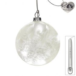 LED Weihnachtskugel aus Glas 10 cm Frost