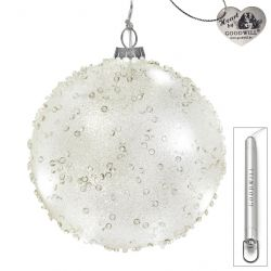 LED Weihnachtskugel aus Glas 12 cm Jewel