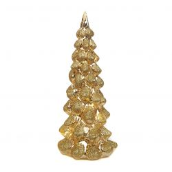 LED Weihnachtsbaum aus Glas 30 cm | Gold