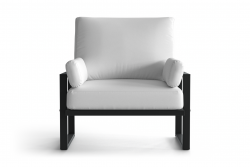 Outdoor Armchair Angie | Anthracite & White