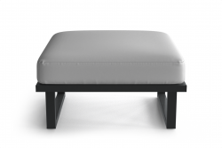 Outdoor Pouf Angie | Anthracite & White
