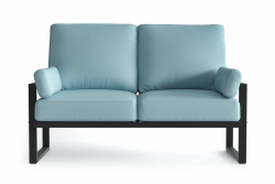 Outdoor 2 Seater Angie | Anthracite & Light Blue