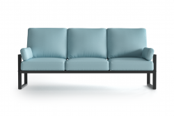Outdoor 3 Seater Angie | Anthracite & Light Blue