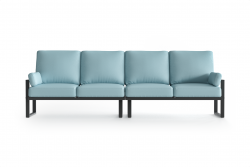 Outdoor 4 Seater Angie | Anthracite & Light Blue
