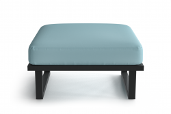Outdoor Pouf Angie | Anthracite & Light Blue