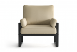 Outdoor Armchair Angie | Anthracite & Beige