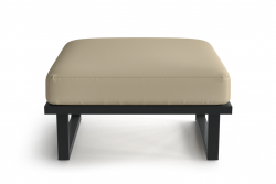 Outdoor Pouf Angie | Anthracite & Beige
