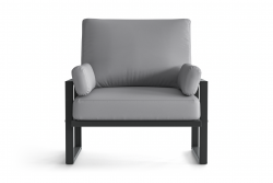 Outdoor Armchair Angie | Anthracite & Grey
