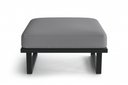 Outdoor Pouf Angie | Anthracite & Grey
