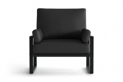 Outdoor Armchair Angie | Anthracite & Dark Grey