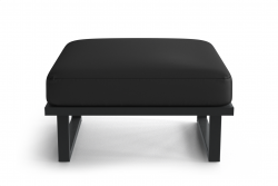 Outdoor Pouf Angie | Anthracite & Dark Grey