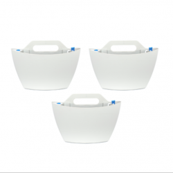 Set of 3 Self-Watering Wall Planters | White