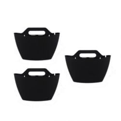Set of 3 Wall Planters | Black