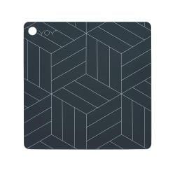 Placemat Mado Set of 2 | Black