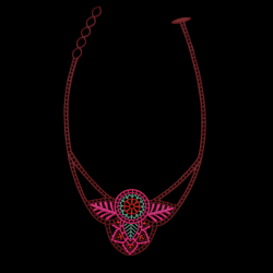 India Necklace | Pink