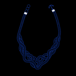 Ketting Marina | Kobaltblauw