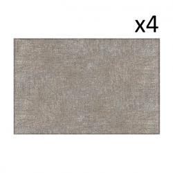Vinyl-Platzset Leinen 4er-Set | Beige