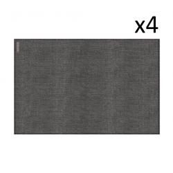 Vinyl Placemat Linen Grey Set of 4