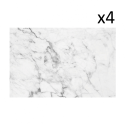 Vinyl Placemats Carrara Set of 4