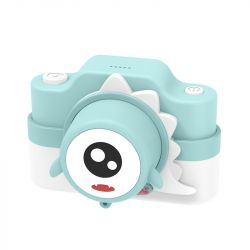 Digital Camera for Kids 24 MP | Mint Dinosaur