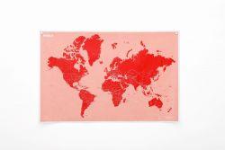 Zerknitterte Weltkarte Länder