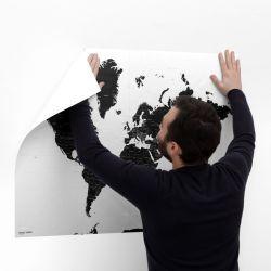 Selbstklebende Weltkarte Zauberkarte