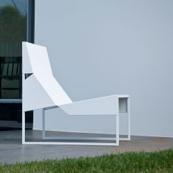 Outdoor Lounge Chair Papier | Weiß