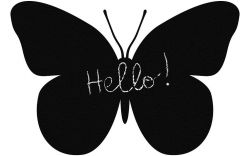 Self Adhesive Chalkboard Butterfly