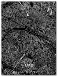 Metal Wall Decoration | City Map | Paris