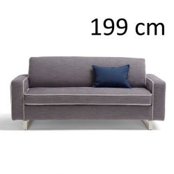 Sleeping Sofa Pascal L 199 cm | Grey