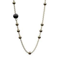 Halskette Passiv | Schwarz & Gold