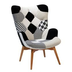 Patch Lounge chair | Black & White