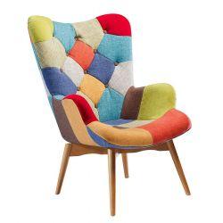 Patchwork Lounge Stoel | Kleur