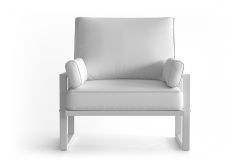 Outdoor Armchair Angie | White