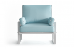 Outdoor Armchair Angie | Light Blue