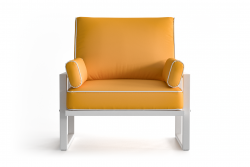 Outdoor Armchair Angie | Yellow