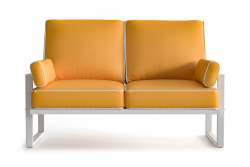 Outdoor 2 Seater Angie | Yellow