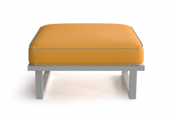 Outdoor Pouf Angie | Yellow