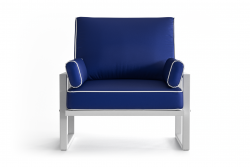 Outdoor Armchair Angie | Blue