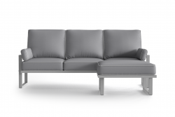 Outdoor Corner Sofa with Detachable Pouf Angie | Grey